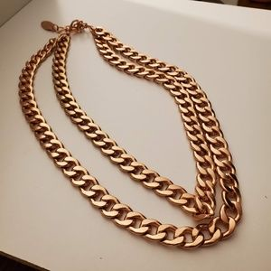 Baublebar Rose Gold chain double necklace